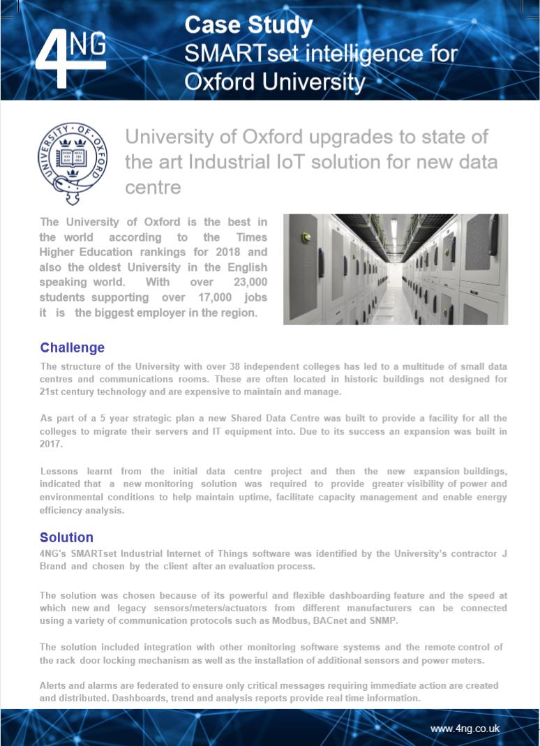 University of Oxford Case Study